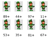 2 Digit plus 1 Digit Leprechaun Addition Game