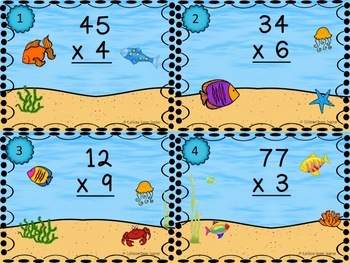 2 Digit Multiplication Task Cards