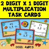 2 Digit x 1 Digit Multiplication Task Cards