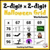 2-Digit x 2-Digit HALLOWEEN Multiplication Worksheets ... MATH core Gr. 4