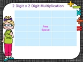 2 Digit x 2 Digit Multiplication Game
