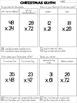 2-Digit x 2-Digit Multiplication Gingerbread House Craftivity Glyph