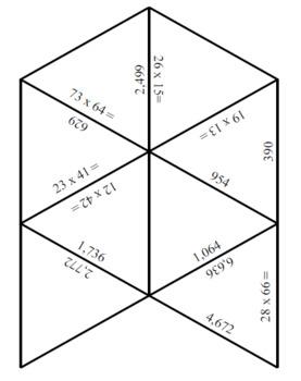 2-Digit x 2-Digit Multiplication Tarsia Puzzle Pack