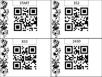 2-Digity by 2-Digit Multiplication QR Code Game