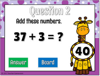 2 Digit and 1 Digit Addition with Regrouping Digital Mini Game