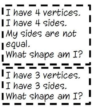 2 Dimensional (2D) Shape Riddles