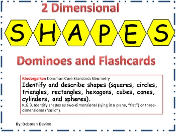 2-Dimensional Dominoes and Flashcards to Support Common Core