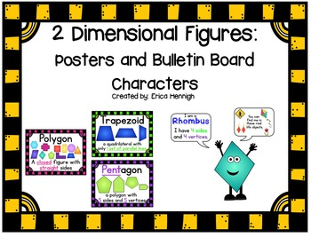 2 Dimensional Figures:  Posters and Characters:  Pre-K through 4th Grades TEKS