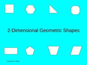 2-Dimensional Geometric Shapes