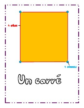 """2 Dimensional Geometry Posters with """"les aretes"""" et """"les sommets"""""""