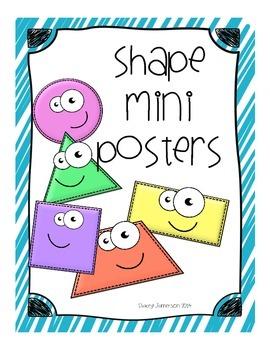 2-Dimensional Shape Mini Posters