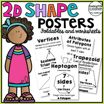 2D Shape Posters with Printables {Classifying Shapes and Attributes}