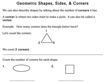 2-Dimensional Shapes, 2nd grade - Individualized Math - worksheets