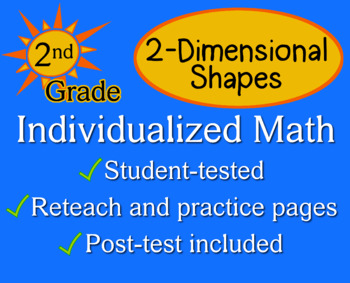 2-Dimensional Shapes, 2nd grade - worksheets - Individualized Math