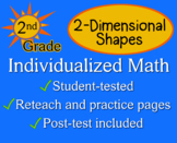 2-Dimensional Shapes, 2nd grade - worksheets - Individuali