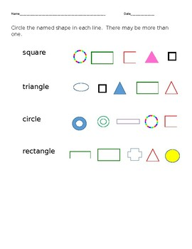 2 Dimensional Shapes