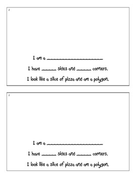 2 Dimensional Shapes Booklet with Cut Outs