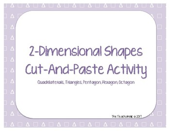 2-Dimensional Shapes - Cut & Paste Activity
