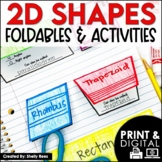 2D Shapes - Geometry and 2 Dimensional Shapes Foldables Polygons Quadrilaterals