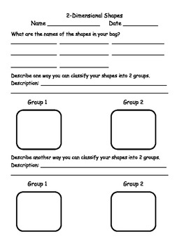 2-Dimensional Shapes Inquiry Learning