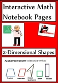 2-Dimensional Shapes Lesson for Interactive Math Notebooks
