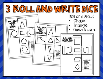2 Dimensional Shapes Roll and Draw