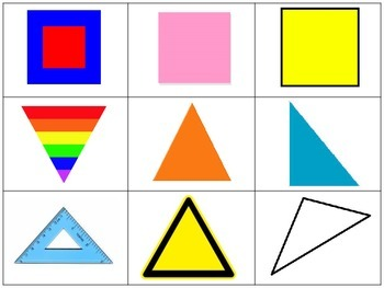 2 Dimensional Shapes Sort Math Center or Whole Group Activity