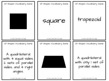 2-Dimensional Shapes Vocabulary Game