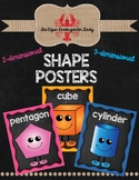 2-Dimensional and 3-Dimensional Shape Posters