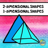 Vocabulary Word Cards--2- Dimensional and 3- Dimensional Shapes