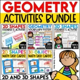 2D Shapes and 3D Shapes Activities Bundle