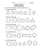 2 Dimensional shapes Post Test