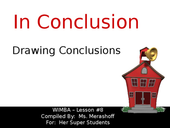 Drawing Conclusions Complete Teacher Lesson On Powerpoint