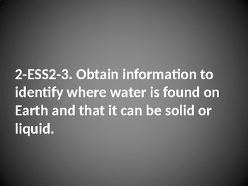 2 ESS2-3 Water on Earth: PowerPoint