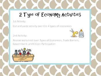 Types of Economies Activties
