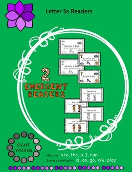 2 Emergent Readers - Letter Ss Theme