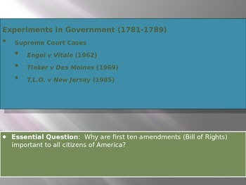 2. Experiments in Government - Lesson 5 of 6 - Student Rights