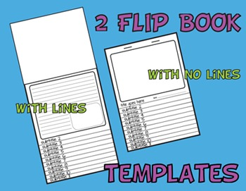 2 FLIP BOOK TEMPLATES - lined or blank