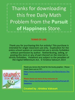 2 FREE Daily Math Problems