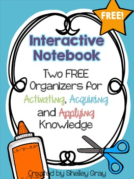 2 FREE Interactive Notebook Activities: Activating, Acquir
