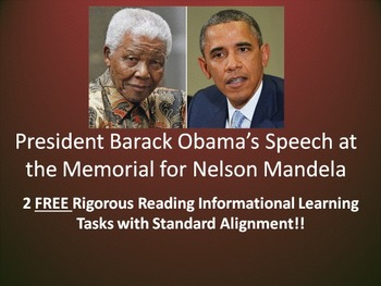 2 FREE Learning Tasks for Pres. Barack Obama's Nelson Mand