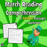 2 Fiction March Reading Comprehension Passage SAMPLE -- Two Levels of Difficulty