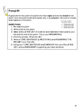FIGURATIVE LANGUAGE PACK--2 PAIRED POEMS + 2 Poem Question Sets = 6 TEXTS