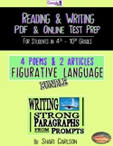SBAC Test Prep~ 6 ONLINE & PDF Texts ~ Fig. Language ~ 4 Poems & 2 ~ BUNDLE