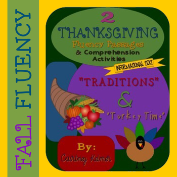 2 Fluency Passages & Comprehension Activities {Turkey Time