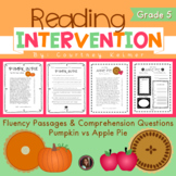 2 Fluency Passages with Comprehension Questions {Apple Vs. Pumpkin Pie}