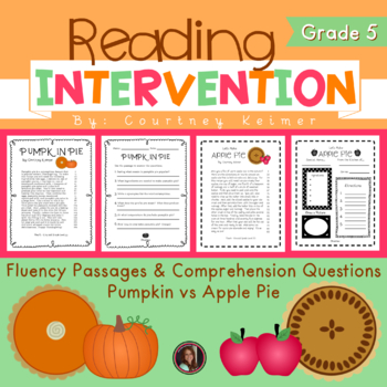 2 Fluency Passages with Comprehension Questions {Apple Vs.