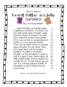 2 Fluency Passages with Comprehension Questions - PB&J and Cookies