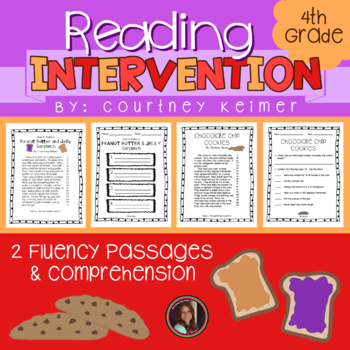 2 Fluency Passages with Comprehension Questions - PB&J and