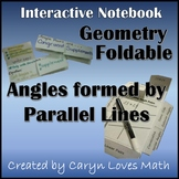 Parallel Lines Cut by Transversal~Congruent&Supplements~Geometry~2 Foldables